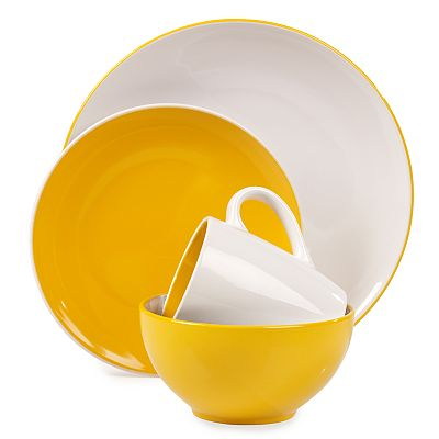 Tabletops Gallery Yellow Milano 16-pc. Dinnerware Set