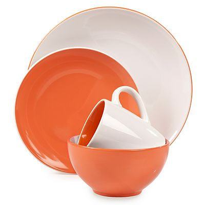 Tabletops Gallery Orange Milano 16-pc. Dinnerware Set