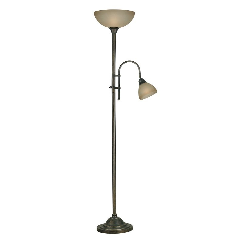 Callahan Torchiere& Reading Lamp (Brown)