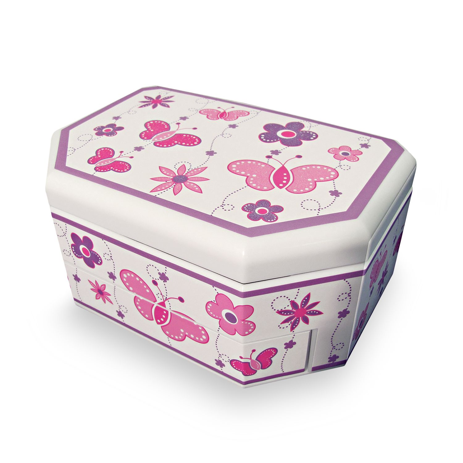 Co Floral Butterfly Musical Jewelry Box Kids