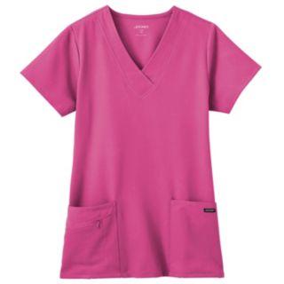 Jockey Scrubs Zipper-Pocket Top - Women's Plus