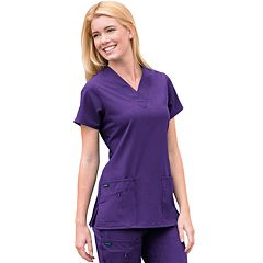 Jockey Scrubs Zipper-Pocket Top - Women's Plus