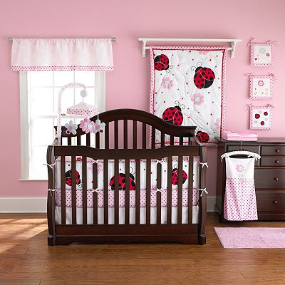 TOO GOOD by Jenny McCarthy Pretty In Pink Reversible Crib Bedding Set