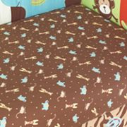 TOO GOOD by Jenny McCarthy Zoo Zoo Fitted Crib Sheet