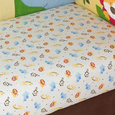 TOO GOOD by Jenny McCarthy Jungle Jubilee Fitted Crib Sheet