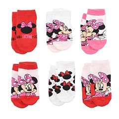 Disney's Minnie Mouse Toddler Girl 6-pack Low-Cut Socks