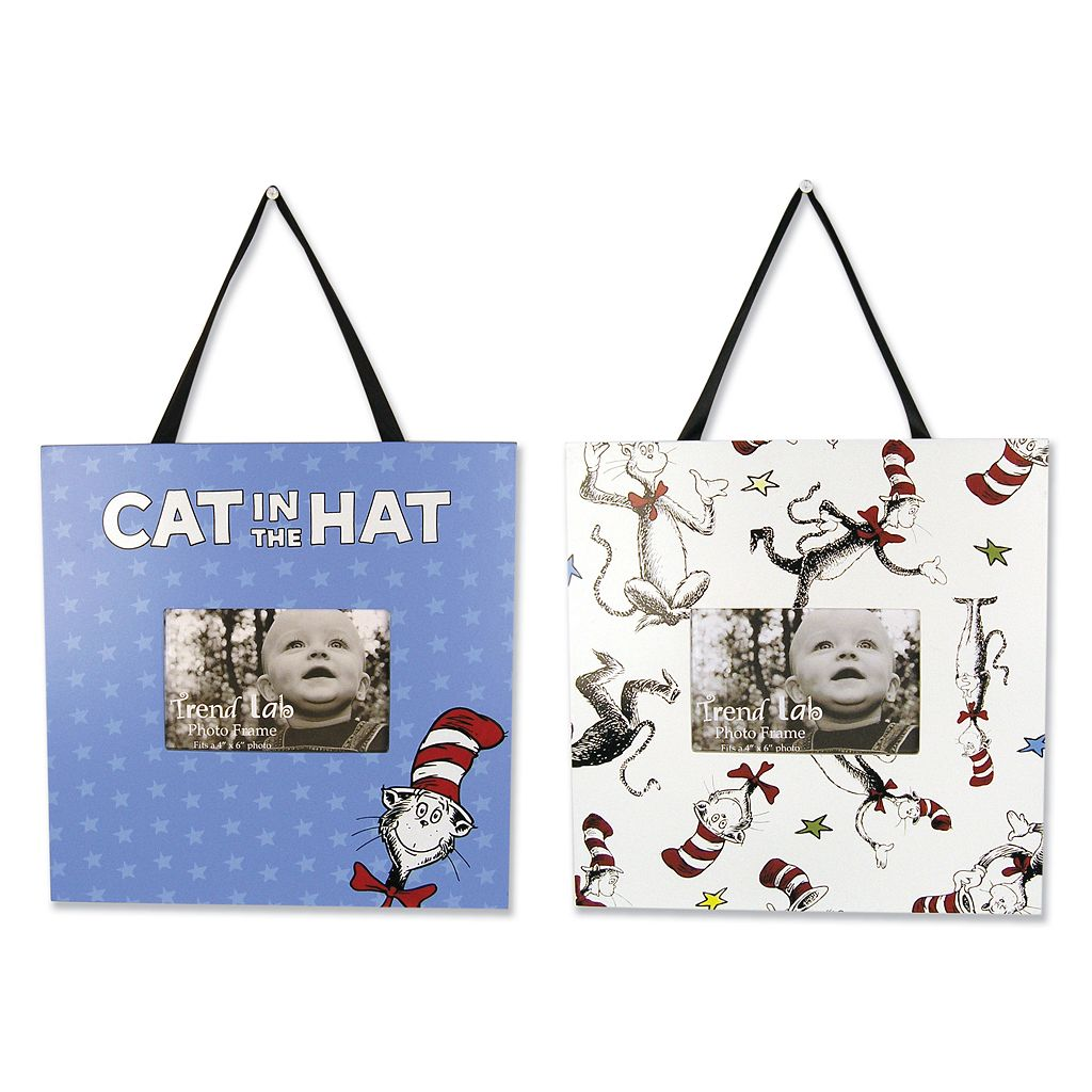 Trend Lab Dr. Seuss The Cat in the Hat Photo Frame Set