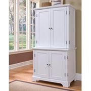 Naples Compact Office Cabinet and Hutch