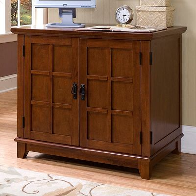 Arts and Crafts Compact Office Cabinet