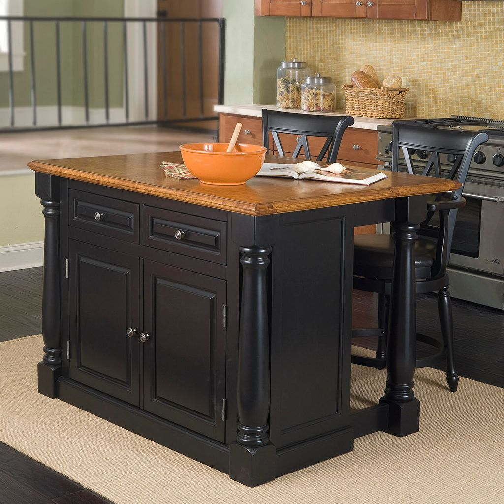 Monarch Black Kitchen Island