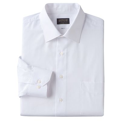 Arrow Classic-Fit Solid Spread-Collar Dress Shirt