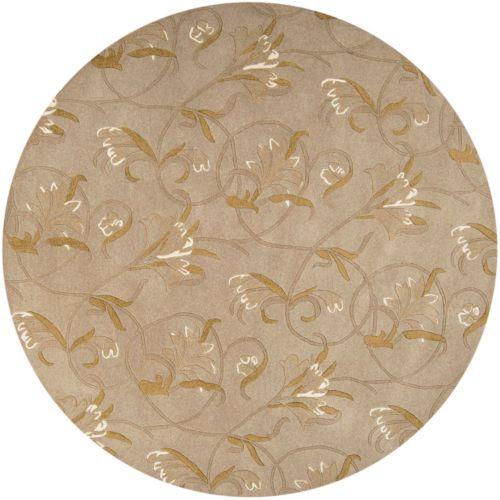 """Surya Goa Floral Rug – 7'9"""" Round"""