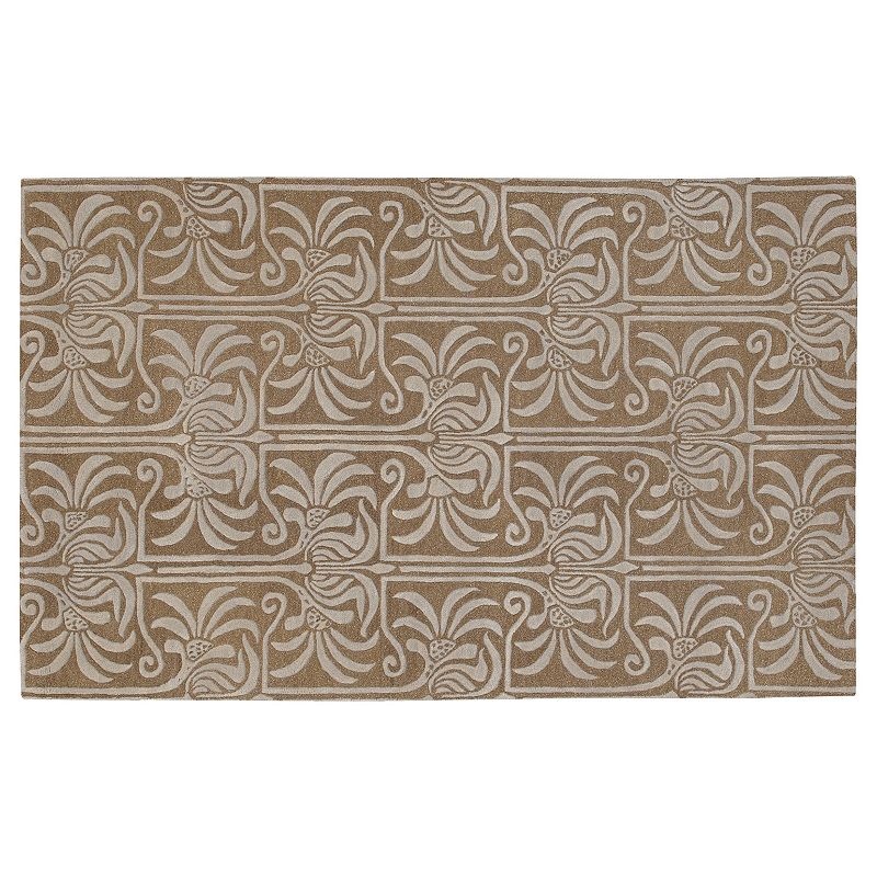 Decor 140 Natura Floral Wool Rug - 8' x 11', Brown, 8X11 Ft