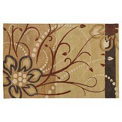 Surya Athena Tan Floral Rug - 6' x 9'