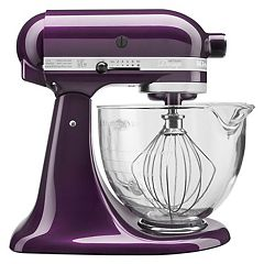 KitchenAid KSM155GB Artisan Design Series 5-qt. Tilt-Head Stand Mixer with Glass Bowl