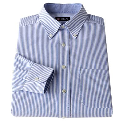 Chaps Classic-Fit Patterned Button-Down Collar Oxford Dress Shirt