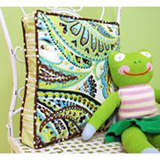 My Baby Sam Paisley Splash in Lime Throw Pillow
