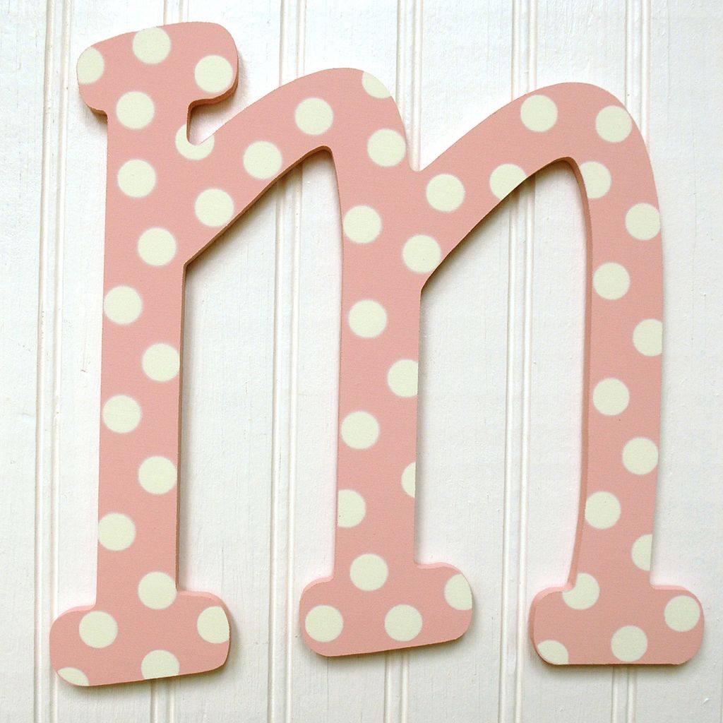 My Baby Sam Baby Polka-Dot Hanging Letters