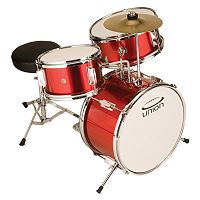 Union Junior Red White 3 pc Drum Set