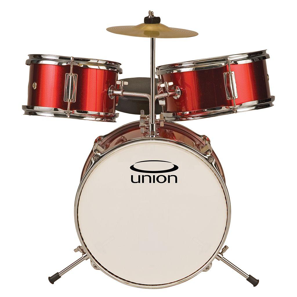 Union Junior Red White 3-pc. Drum Set