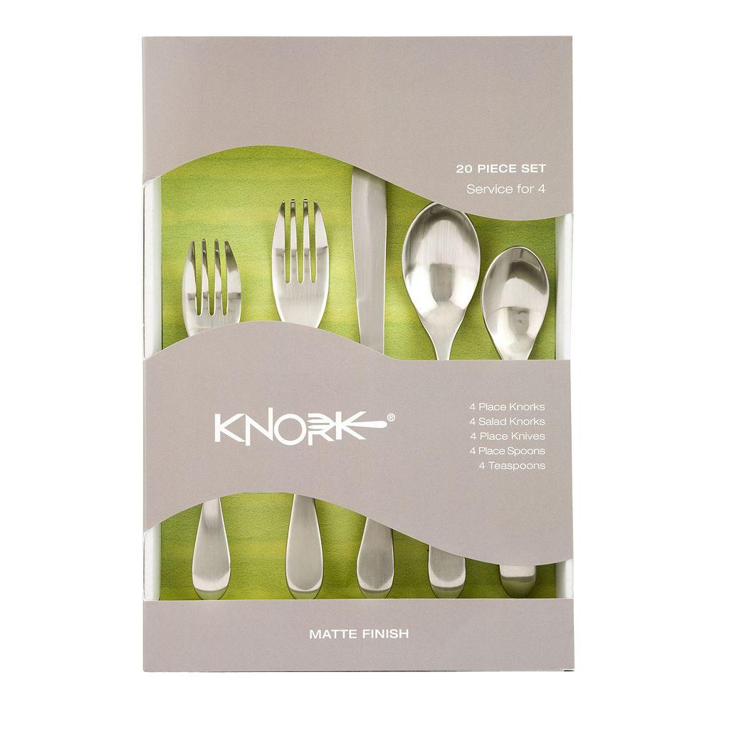 Knork Matte 20-pc. Flatware Set