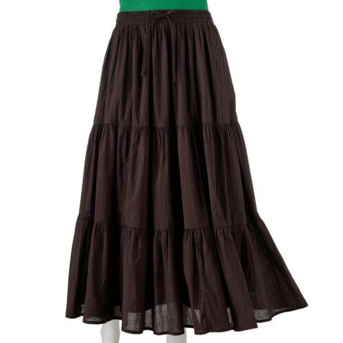 mudd crinkled maxi skirt