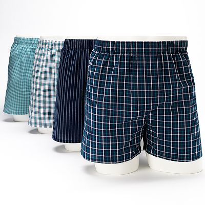 Croft & Barrow 4-pk. Plaid Boxers