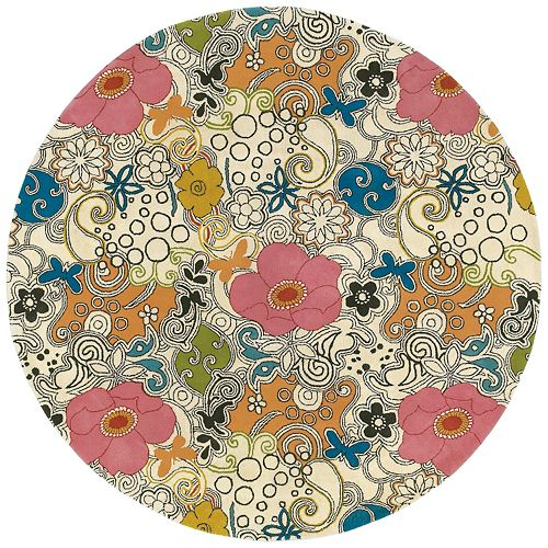 Surya Goa Floral and Paisley Rug - 5'9'' Round