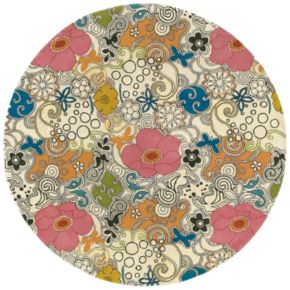 Surya Goa Floral and Paisley Rug - 7'9'' Round