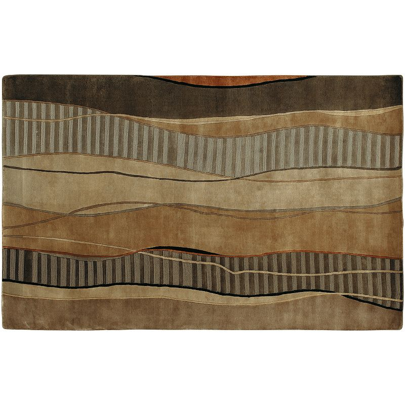 Decor 140 Mugal Wave Rug, Brown, 8X11 Ft