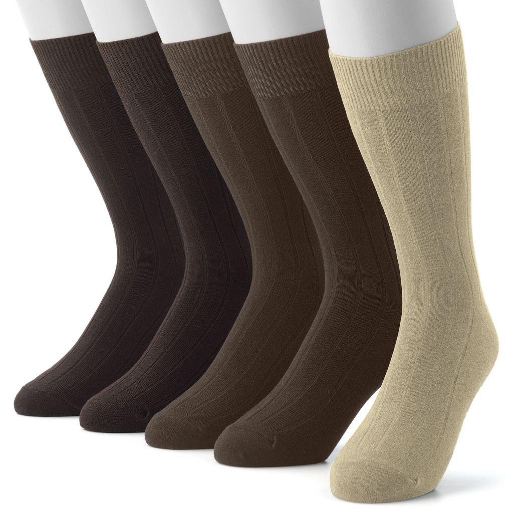 Men's Croft & Barrow® 5-pk. Premium Ribbed Dress Socks