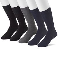 Men's Croft & Barrow® 5-pk. Premium Ribbed Dress Socks