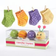 Baby Aspen Caterpillar Crawlers Sock Gift Set - Newborn