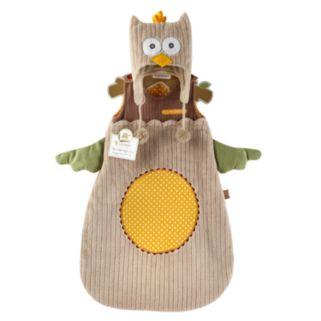 Baby Aspen My Little Night Owl Snuggle Sack and Cap Gift Set - Newborn