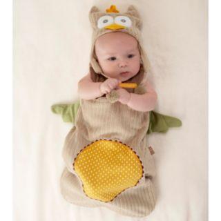Baby Aspen My Little Night Owl Snuggle Sack and Cap Gift Set - Newborn