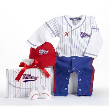 Baby Aspen Big Dreamzzz Baseball Coveralls Gift Set