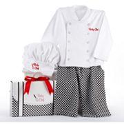Baby Aspen Big Dreamzzz 'Baby Chef' Coat Gift Set - Newborn