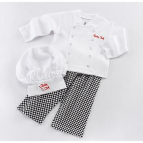 Baby Aspen Big Dreamzzz Baby Chef Coat Gift Set - Newborn