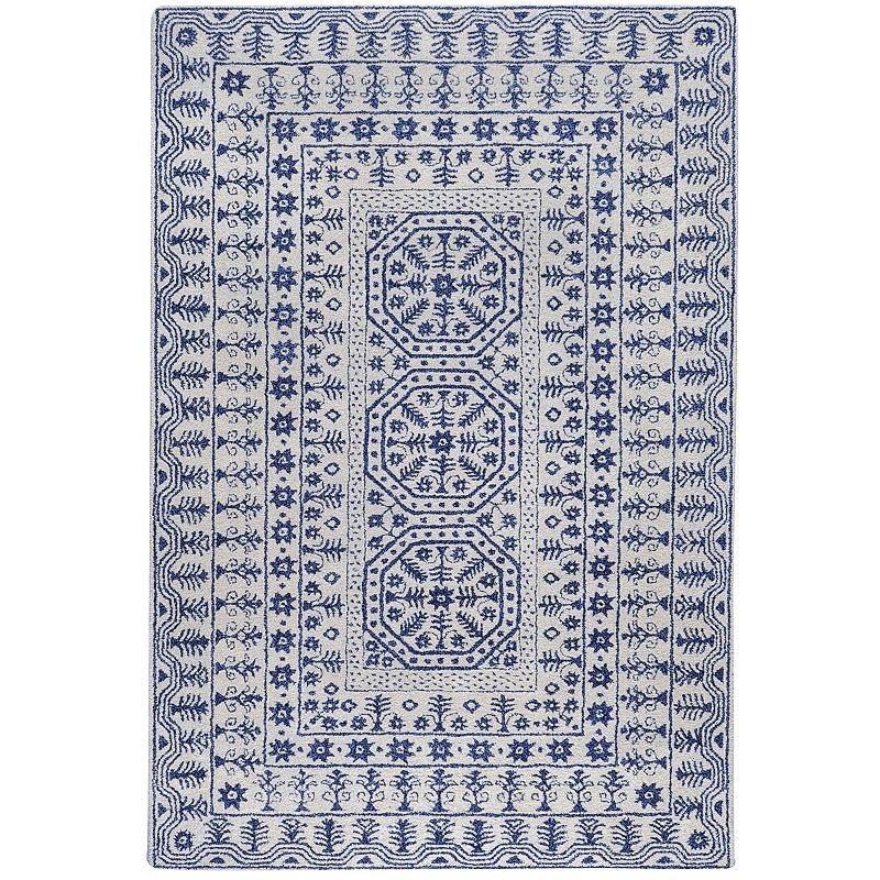 Decor 140 Smithsonian Tile Wool Rug, White, 3X5 Ft Product Image