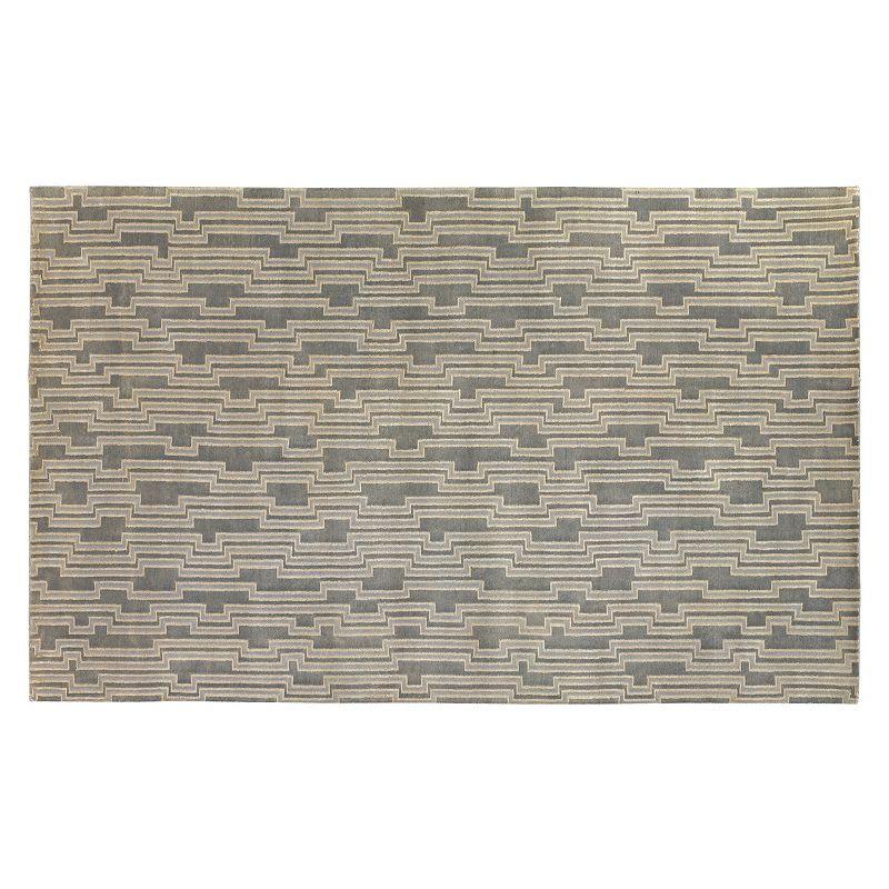 Decor 140 Luminous Geometric Rug, Grey, 5X8 Ft