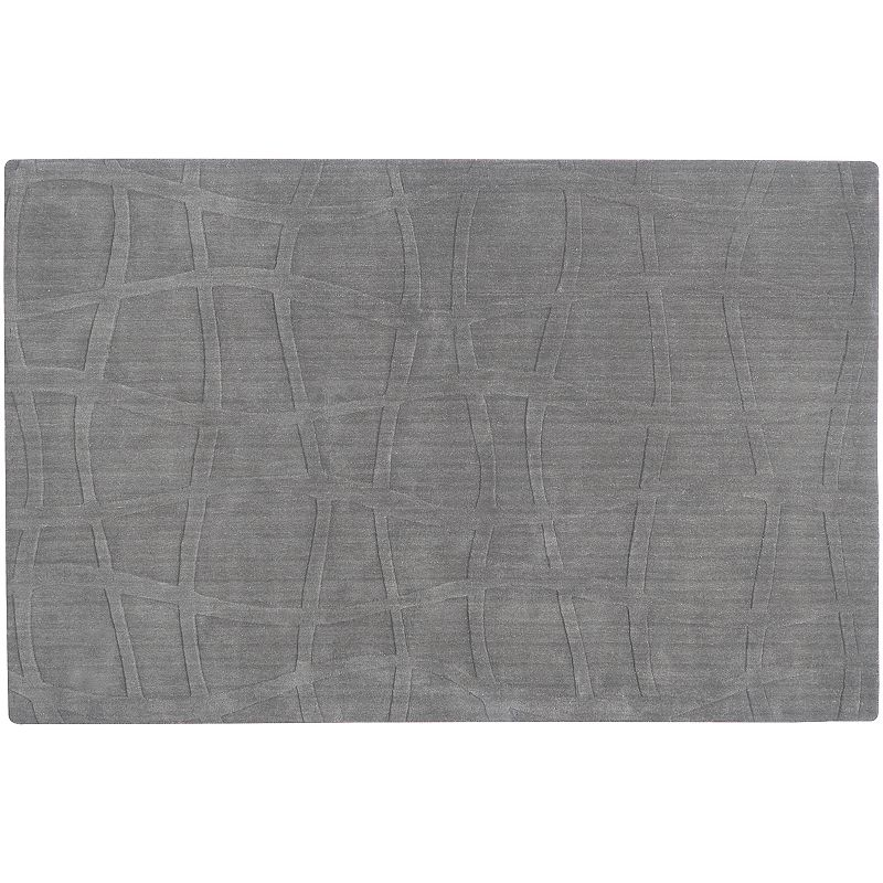 Decor 140 Sculpture Geometric Wool Rug, Grey, 5X8 Ft