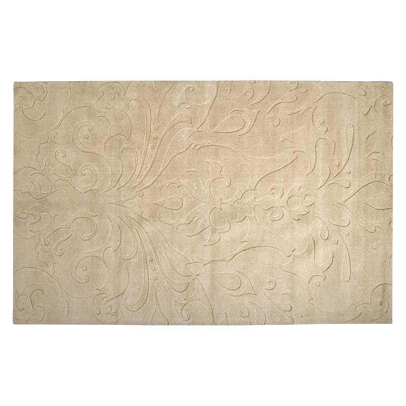 Decor 140 Sculpture Floral Rug, Beig/Green, 8X11 Ft