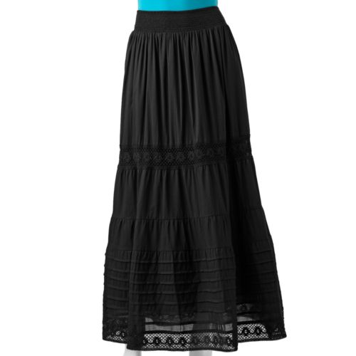 candie s tiered maxi skirt