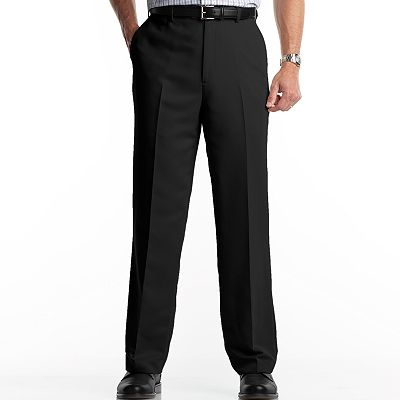 Croft and Barrow Microfiber Flat-Front Dress Pants - Big and Tall