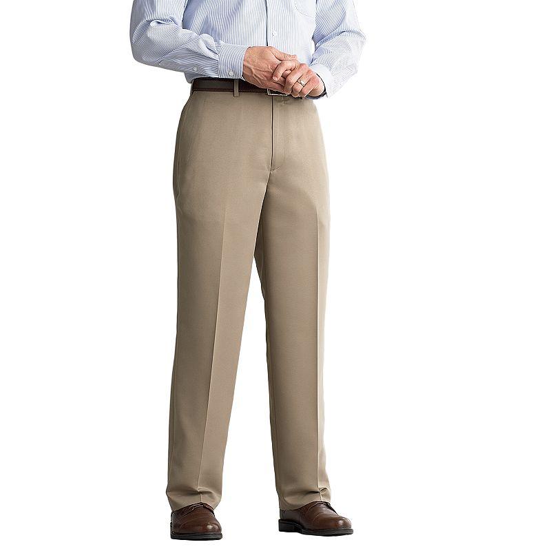 Croft and Barrow Microfiber Flat-Front Dress Pants - Big and Tall