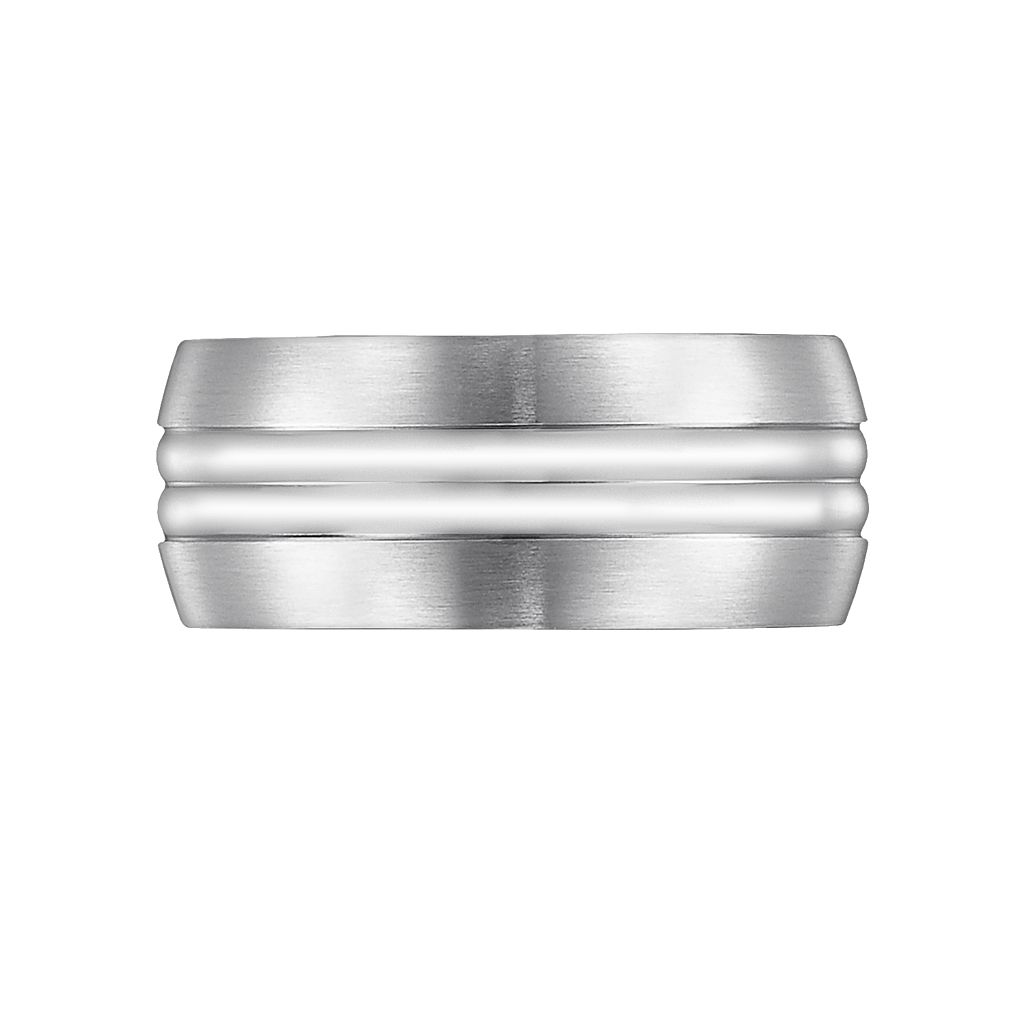 Cherish Always Stainless Steel Striped Wedding Band - Men