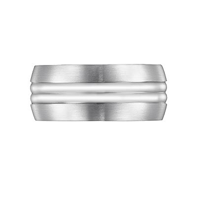 Cherish Always Stainless Steel Striped Band - Men