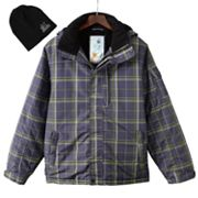 ZeroXposur Gray Radical Snowboard Jacket with Hat