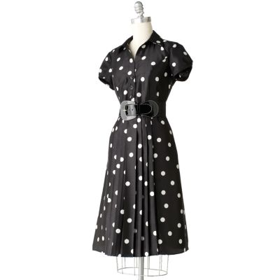 Jennifer West Polka-Dot Shirtdress