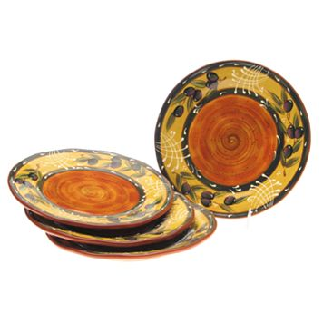 Certified International French Olives 4-pc. Dinner Plate Set